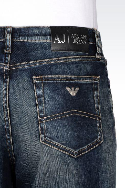 LOOSE FIT MEDIUM DARK WASH JEANS: Jeans Women by Armani - 5