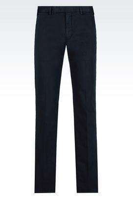 Armani Chinos Men cotton trousers