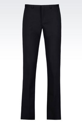 Armani Straight leg trousers Men trousers in stretch cotton satin