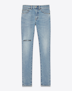 ORIGINAL Mid WAISTED SKINNY JEAN IN light blue Stretch Denim