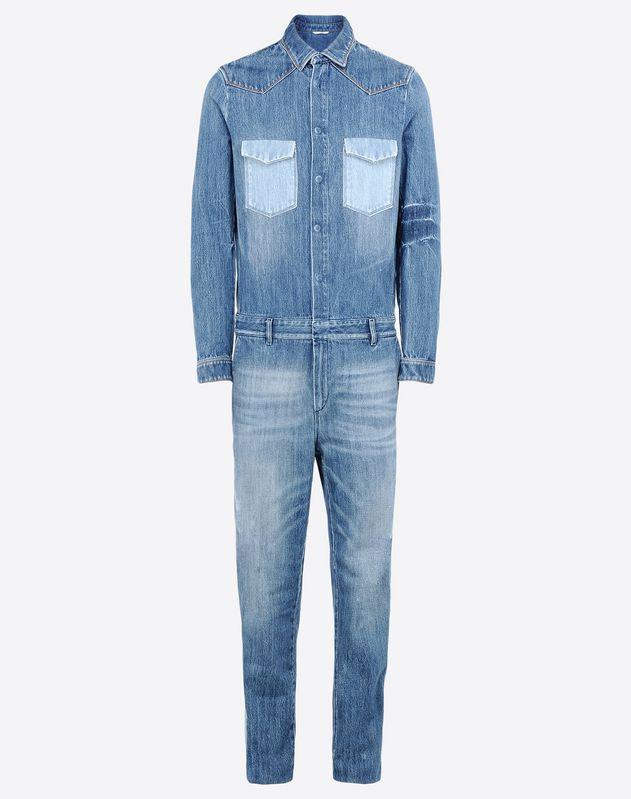 combinaison en denim couture pantalons homme valentino uomo boutique en ligne valentino. Black Bedroom Furniture Sets. Home Design Ideas