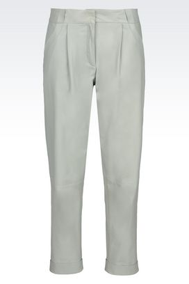 Armani Pants with tucks Women trousers in napa lambskin