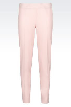 Armani Straight leg trousers Women skinny fit trousers in stretch wool