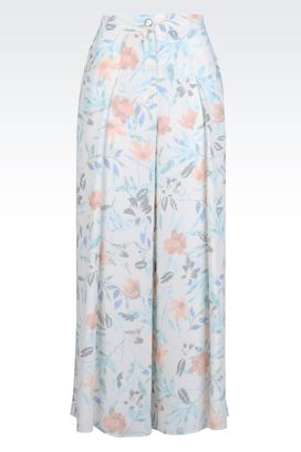 Armani High-waist pants Women palazzo pants in floral crêpe