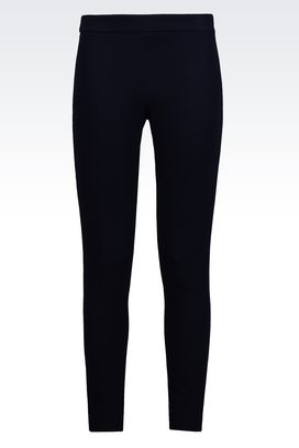 Armani Straight leg trousers Women skinny fit trousers in jersey