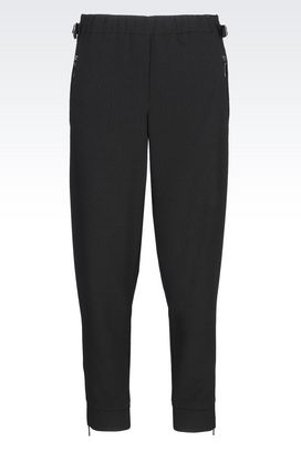 Armani Straight leg trousers Women trousers in technical fabric