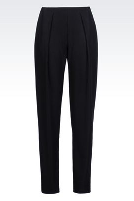 Armani Straight leg trousers Women jersey trousers