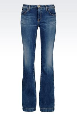 Armani Jeans Women medium wash flared jeans