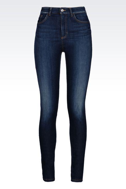 SUPER SKINNY MEDIUM DARK WASH JEANS: Jeans Women by Armani - 1