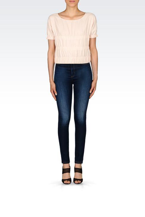 SUPER SKINNY MEDIUM DARK WASH JEANS: Jeans Women by Armani - 2