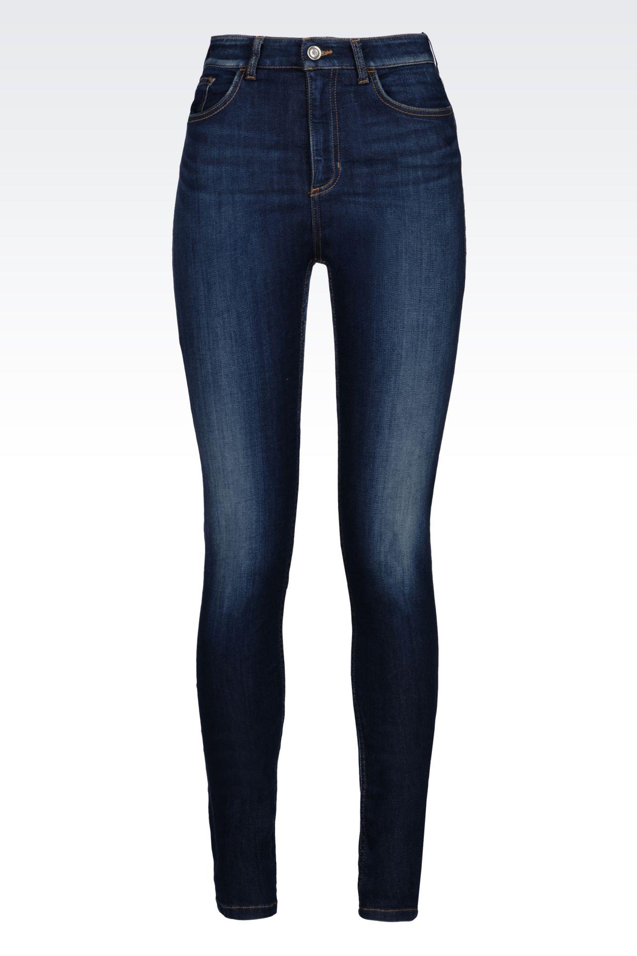 SUPER SKINNY MEDIUM DARK WASH JEANS: Jeans Women by Armani - 0