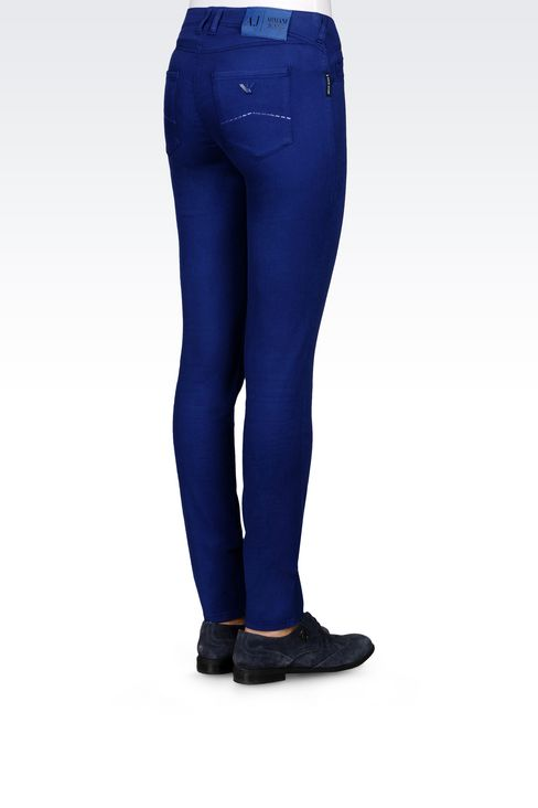 JEGGINGS IN MODAL BLEND: 5 pockets Women by Armani - 4