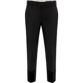 ALEXANDER MCQUEEN, Casual Pants, Velvet Cuff Evening Trousers
