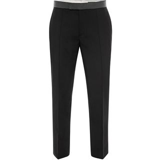ALEXANDER MCQUEEN, Tailored Pant, Studded Waistband Evening Trousers