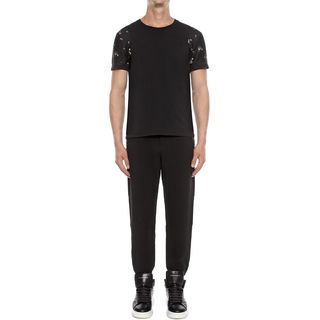 ALEXANDER MCQUEEN, Casual Pants, Single Crepe Slim Sporty Trousers