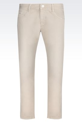 Armani Jeans Men slim fit jeans in cotton drill
