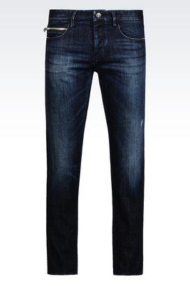 Armani Jeans Men skinny black wash jeans
