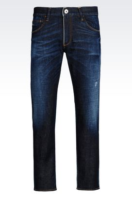 Armani Jeans Men slim fit used effect jeans