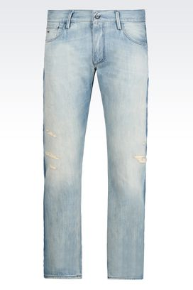 Armani Jeans Men slim fit light wash jeans