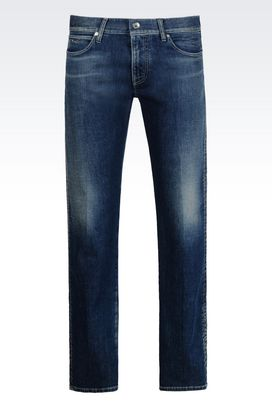 Armani Jeans Men regular fit used effect jeans