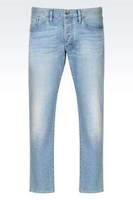 Armani Jeans Men tapered fit light wash jeans