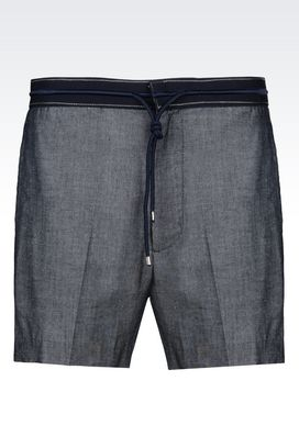 Armani Bermuda shorts Men bermuda shorts in cotton blend