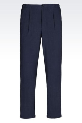 Armani Trousers with tucks Men seersucker trousers