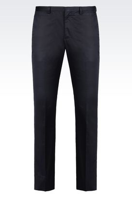 Armani Straight leg trousers Men satin trousers