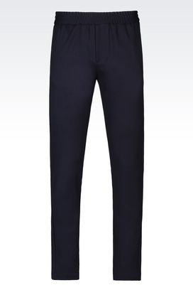 Armani Straight leg trousers Men jersey trousers