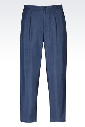 Armani High-waist pants Men runway trousers in cupro