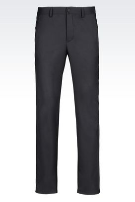 Armani High-waist pants Men worsted wool trousers