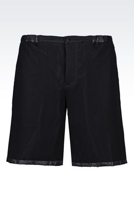 Armani Bermuda shorts Men bermuda shorts in technical fabric