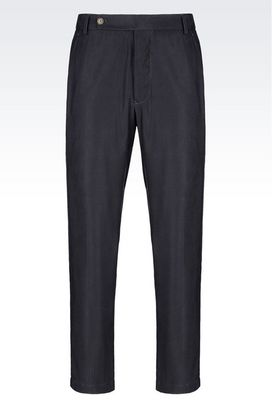 Armani Trousers Men trousers in natté cupro
