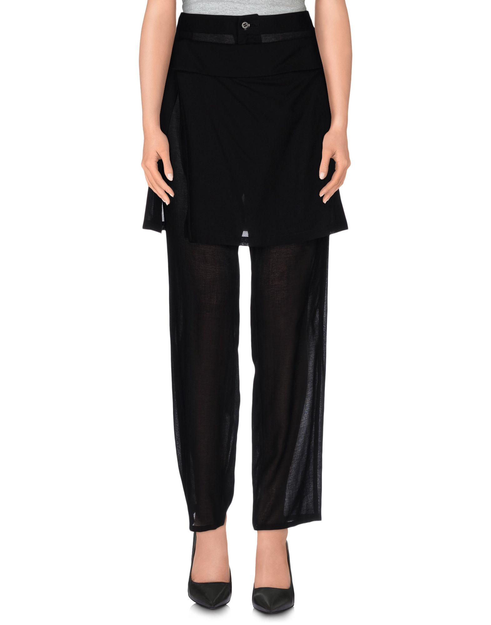 YOHJI YAMAMOTO Damen Hose Farbe Schwarz Größe 4