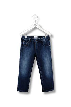 Armani 5 pockets jeans Men medium dark wash jeans in fleece