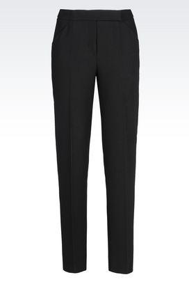Armani Trousers Women trousers in crêpe