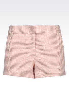 Armani Bermuda shorts Women shorts in jacquard