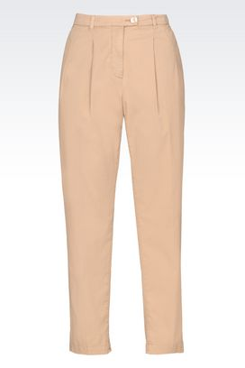 Armani High-waist pants Women trousers in stretch cotton gabardine