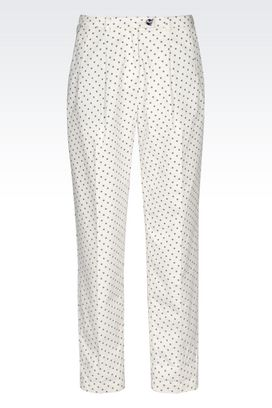 Armani High-waist pants Women relaxed fit trousers in jacquard fabric