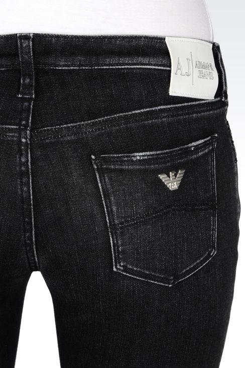 SKINNY BLACK WASH JEANS: Jeans Women by Armani - 5