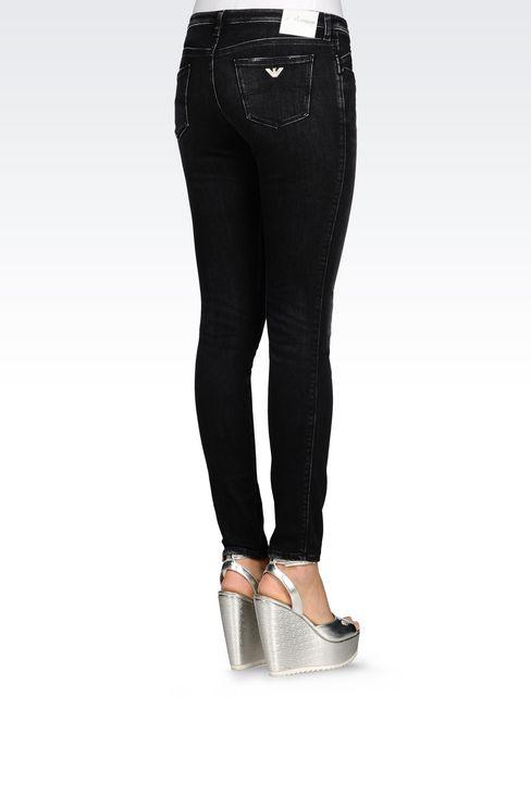 SKINNY BLACK WASH JEANS: Jeans Women by Armani - 4