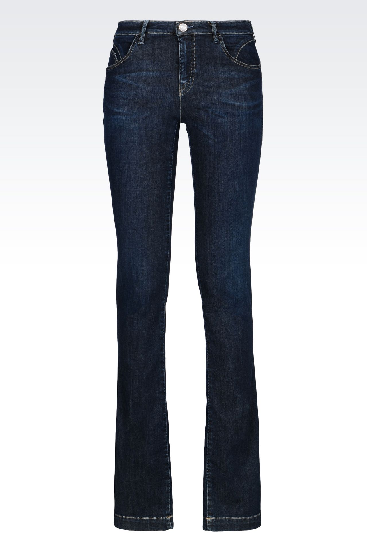 REGULAR FIT DARK WASH JEANS: Jeans Women by Armani - 0