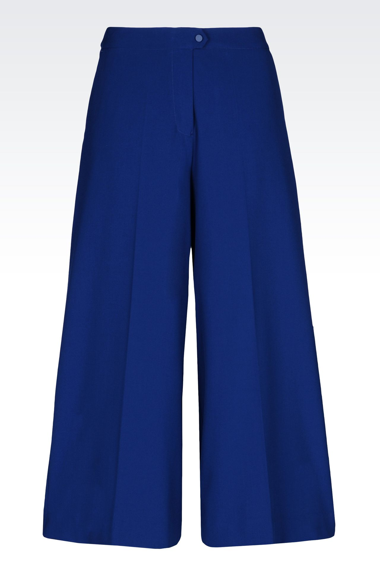 VISCOSE BLEND TROUSERS: High-waist pants Women by Armani - 0