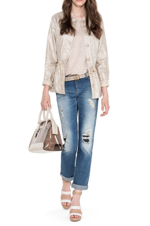 SLIM FIT LIGHT WASH JEANS : Jeans Women by Armani - 2
