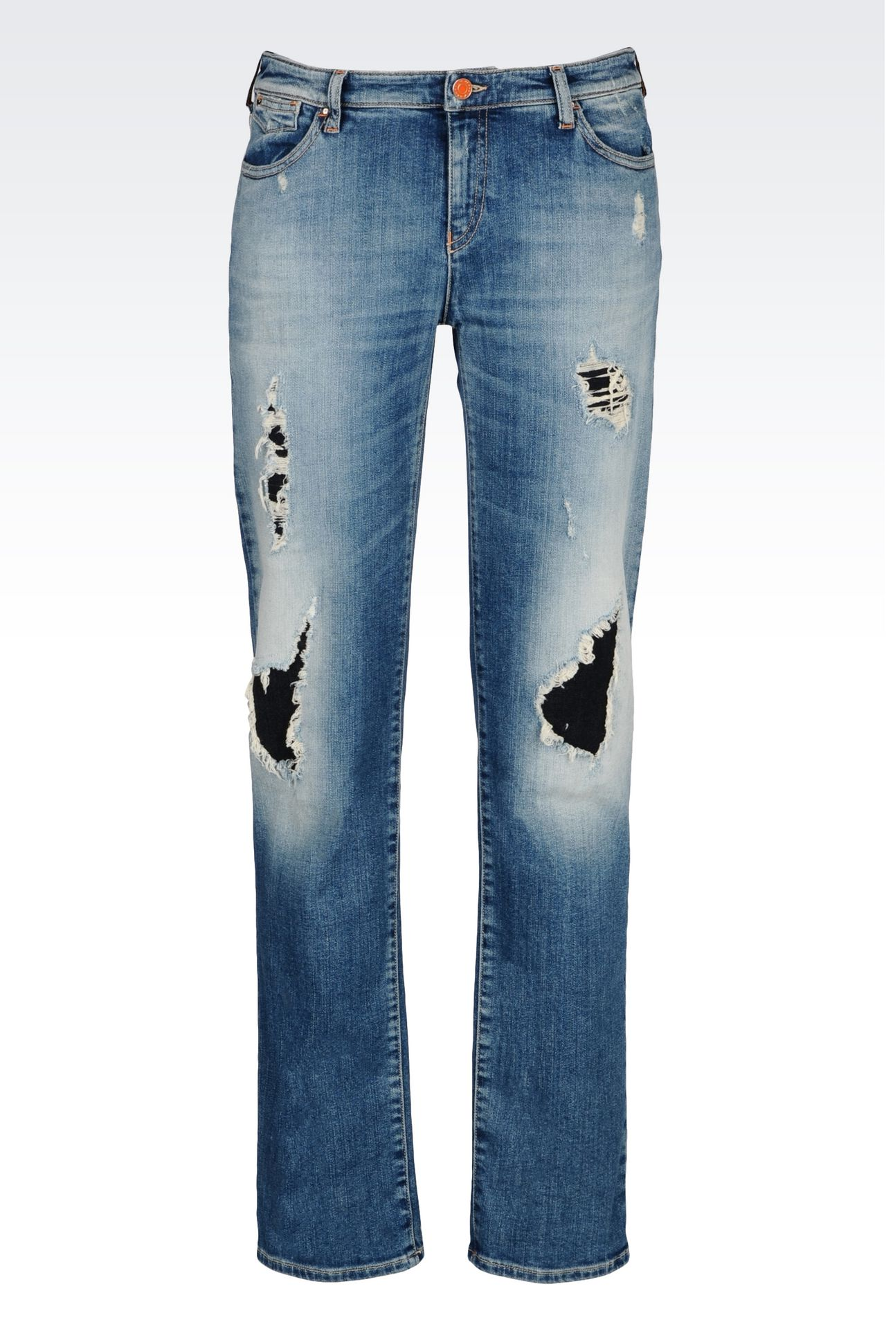 SLIM FIT LIGHT WASH JEANS : Jeans Women by Armani - 0