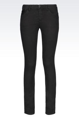 Armani 5 pockets Women push up dark wash jeans