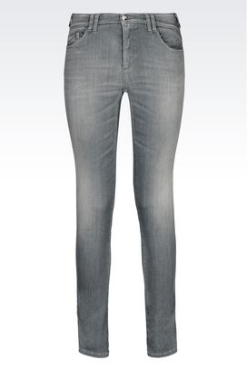 Armani Jeans Women skinny fit grey wash jeans