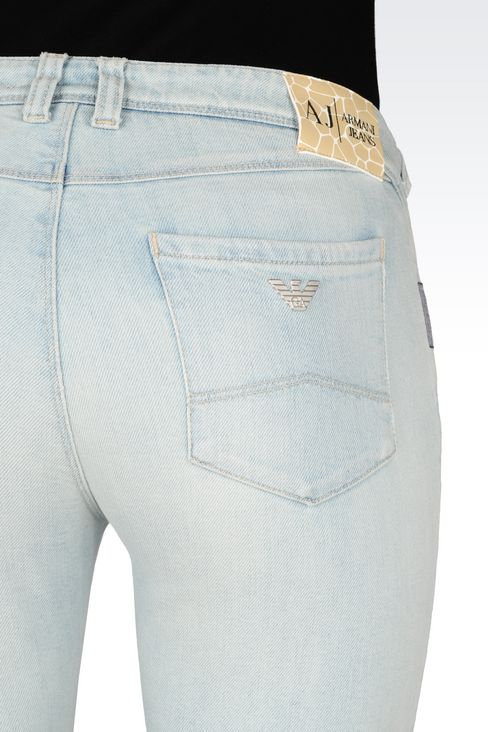 SKINNY FIT LIGHT WASH JEANS: Jeans Women by Armani - 5