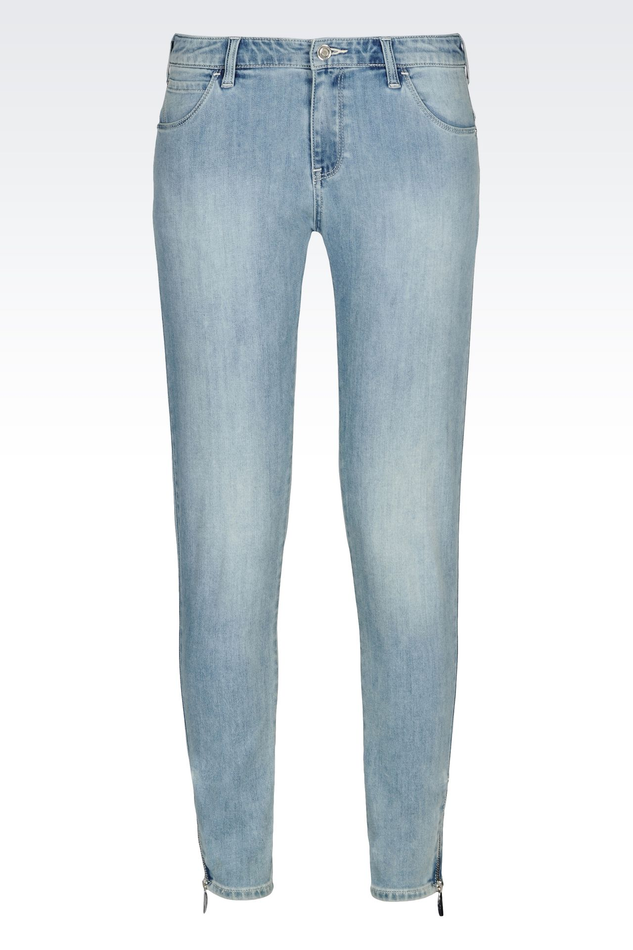SKINNY FIT LIGHT WASH JEANS: Jeans Women by Armani - 0