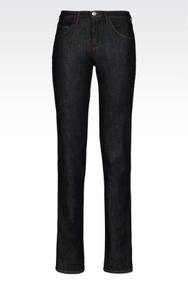 Armani Jeans Women regular fit raw denim jeans